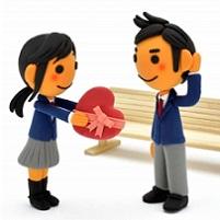 告白 バレンタイン