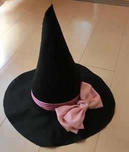 ハロウィン魔女帽子 手作り