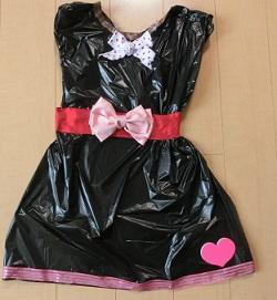 ハロウィン ゴミ袋 衣装 手作り