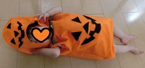 ハロウィン かぼちゃの仮装 赤ちゃん 手作り