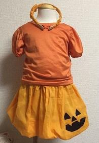 ハロウィン かぼちゃの仮装 子供用手作り