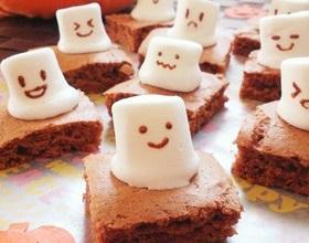 ハロウィン 手作り お化けケーキ