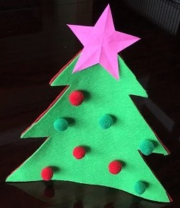 フェルトのクリスマスツリー 作り方
