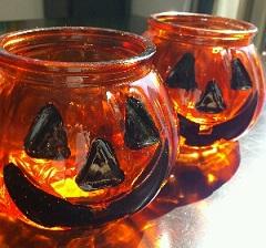 ハロウィン キャンドルグラス 100均