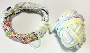 毛糸リース 作り方