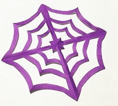 蜘蛛の巣 作り方 切り紙