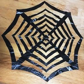 蜘蛛の巣 ゴミ袋 手作り
