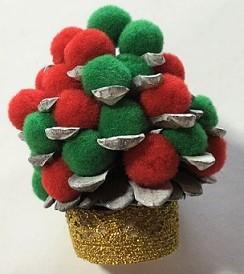 松ぼっくり クリスマスツリー ハンドメイド