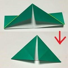 折り紙 クリスマスリース 手作り方法