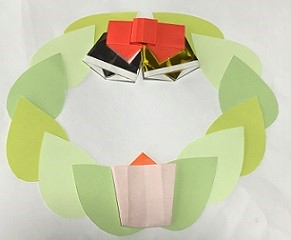 クリスマスリース 画用紙 手作り