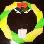 クリスマスリース 折り紙の簡単な折り方・作り方!画用紙も紹介