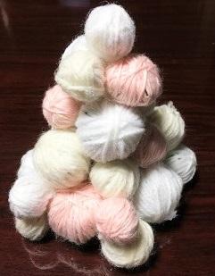 毛糸のクリスマスツリー 作り方