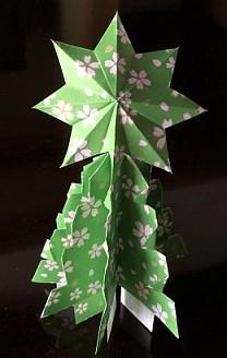 折り紙の立体クリスマスツリー 作り方