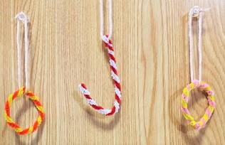 モールのクリスマスオーナメント 手作り