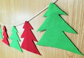 フェルト クリスマスガーランド ハンドメイド