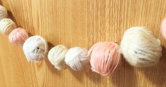 毛糸のクリスマスガーランド 手作り
