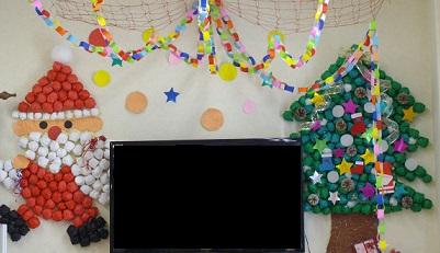 クリスマス 壁画 手作り