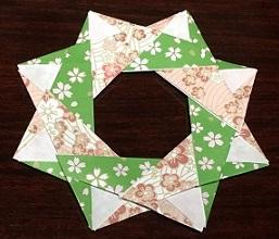 デイサービス レクリエーション 折り紙リース