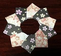 折り紙リース 折り方 オシャレ