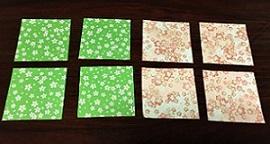 折り紙リース 折り方 8枚用