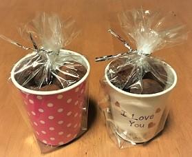 バレンタイン ラッピング 紙コップ
