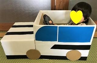 段ボール 車 赤ちゃん