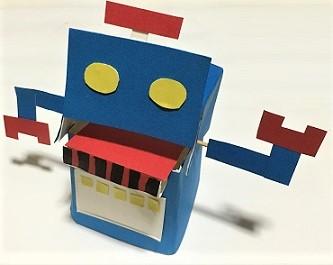 牛乳パック 貯金箱 ロボット