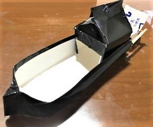 牛乳パック 船 輪ゴム