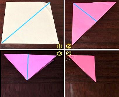 コスモス 折り紙 切り絵