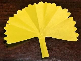 いちょう 折り紙 高齢者施設
