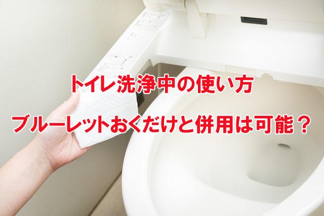 トイレ洗浄中
