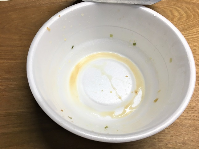 賞味期限切れのカップ麺を完食